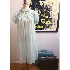 #newtocloset 50s peignoir dressing gown blush blue